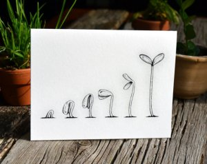 This image, courtesy of HelloSprout, is a handmade card and available for purchase from etsy.com. See http://etsy.me/r1D7Vd