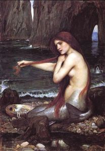 "John William Waterhouse, ""A Mermaid,"" 1900 Oil on canvas, 96.5 x 66.6 cm. Image courtesy of WikiCommons (http://bit.ly/162XAUQ)"