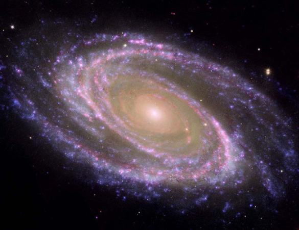 A Titled Galaxy as photographed by the Hubble Telescope