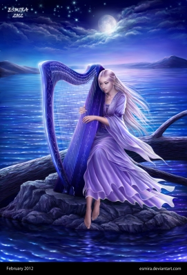 """Midnight Harp"" by Esmira, on DeviantArt"
