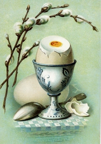 This image is cropped from a vintage Easter postcard on the Old Design Shop, a vintage design treasury.