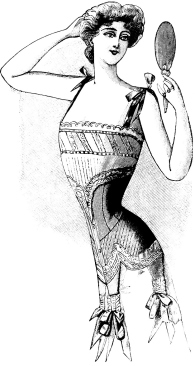 Image cropped from a vintage advertisement for corsets from Le Petit Echo de la Mode (Dec. 15, 1901 issue). Courtesy of the Old Design Shop.