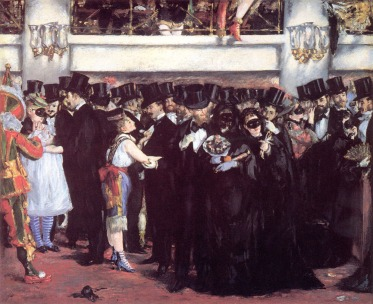 Edouard Manet, The Masked Ball at the Opera (c.1873), oil on canvas, 59.1 x 72.5 cm. National Gallery of Art, Washington, DC, USA. Image courtesy of Wikiart.org