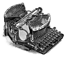 An old magazine advertisement for a Williams Typewriter courtesy of the Old Design Shop.